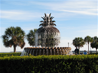 Pineapple Fountain in Charleston for Customer Service Post